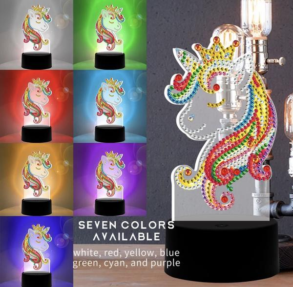 Unicorn Diamond Painting Lamp