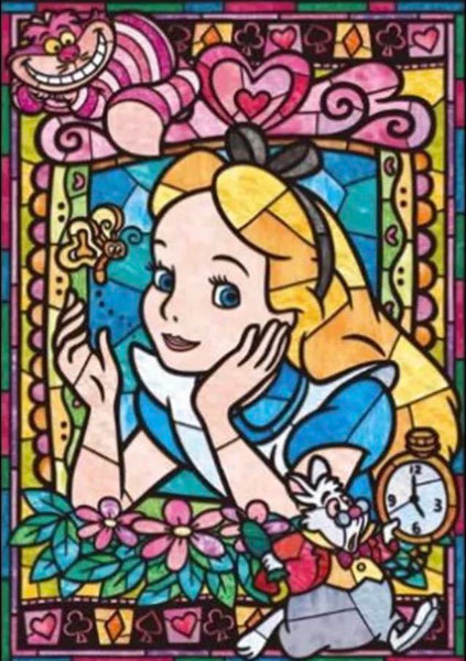Alice Stained Glass Diamond Painting