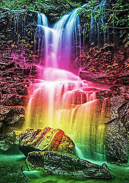 Rainbow Waterfall Diamond Painting
