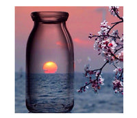 Bottle Sunset Diamond Painting