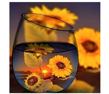 Sunflower Glass Diamond Painting