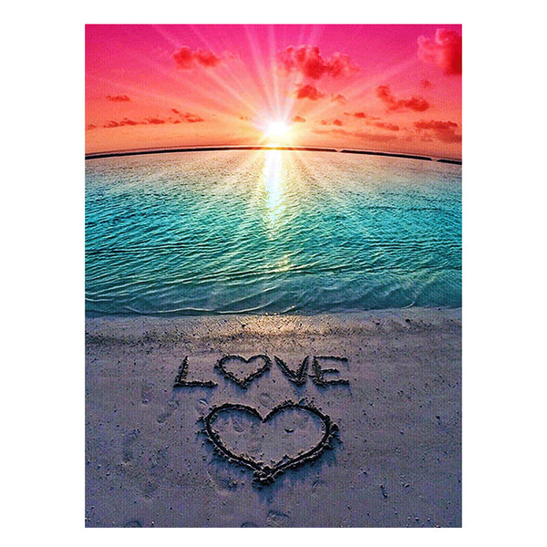 Beach Sunset Love Diamond Painting