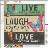 Live, Laugh, Love Diamond Painting