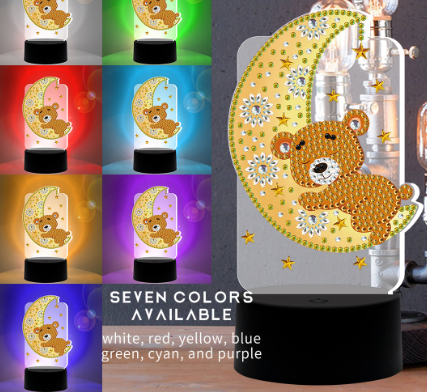 Bear Diamond Painting Lamp