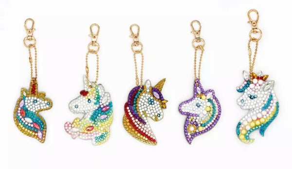 Unicorn Diamond Painting Keychains