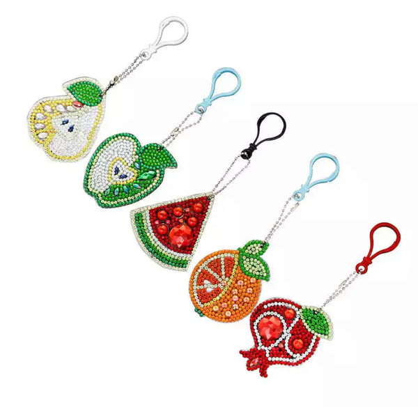Fruit Diamond Painting Keychains