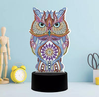 Owl Diamond Painting Lamp