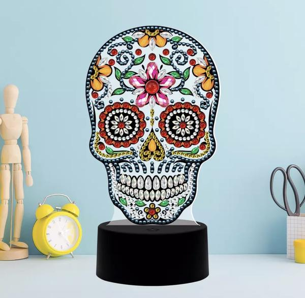 Skull Diamond Painting Lamp
