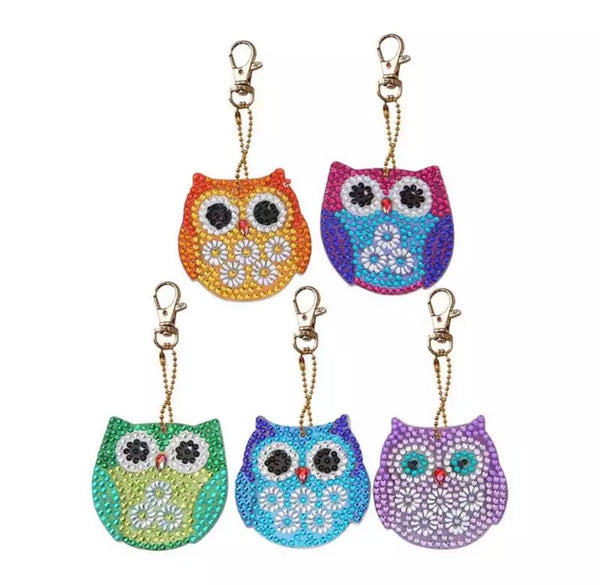 Owl Diamond Painting Keychains