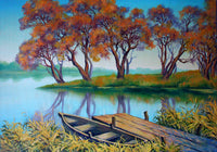 Fall Lake Diamond Painting