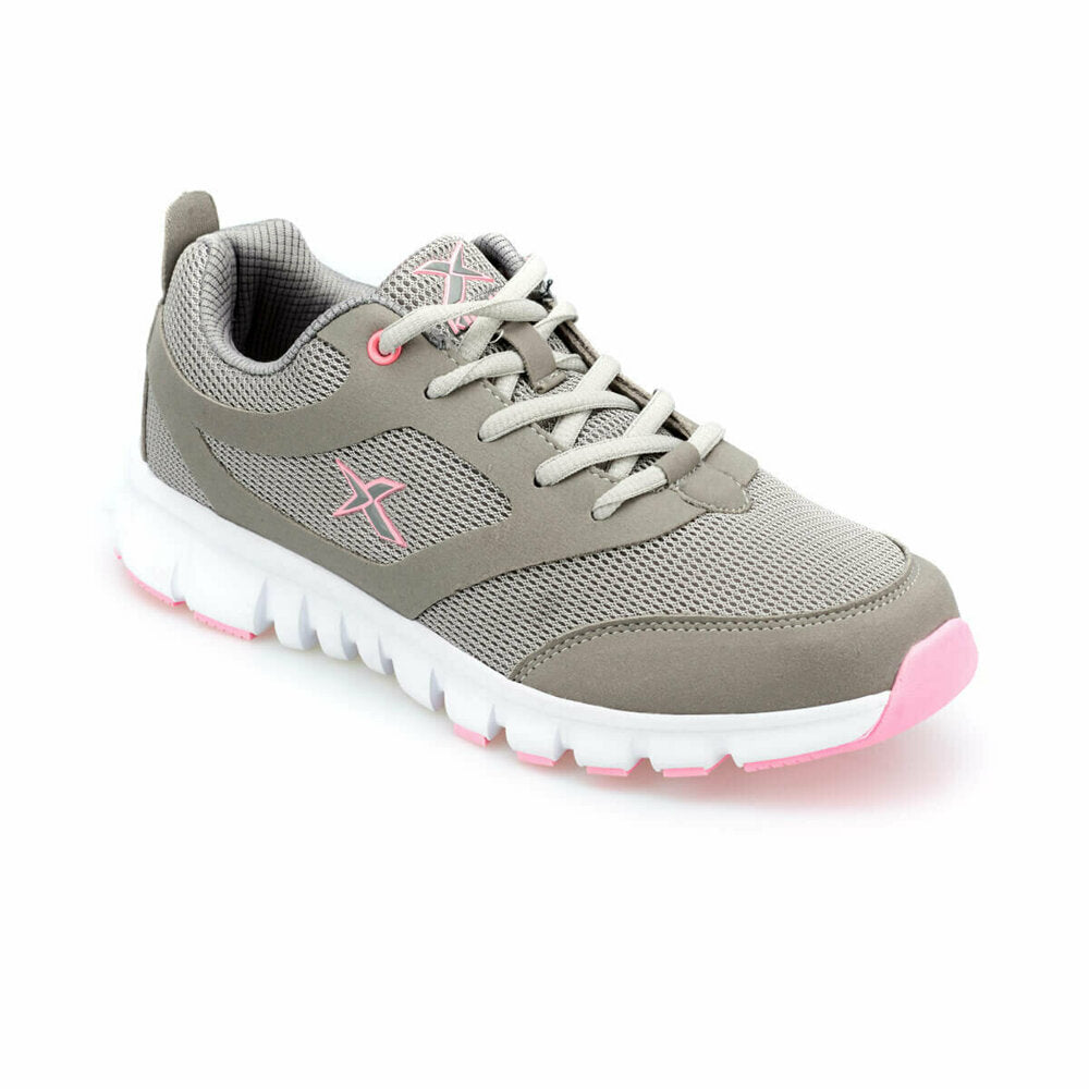 Women's Grey Light Pink White Fitness Shoes
