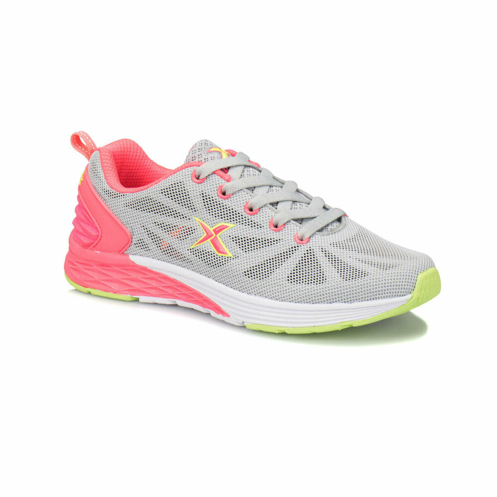 Women's Light Grey Fuchsia Fitness Shoes