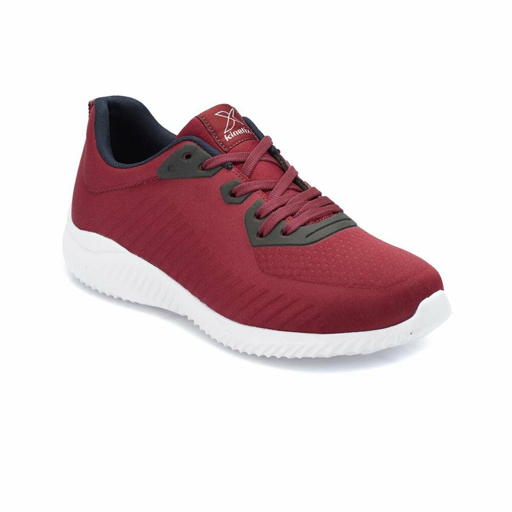 Women's Lace-up Claret Red Sneakers