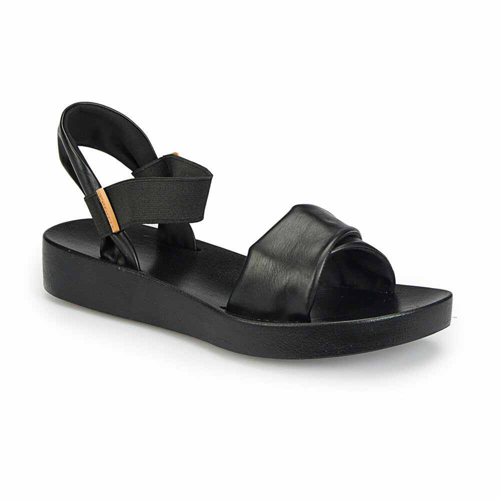 Women's Black Basic Comfort Sandals
