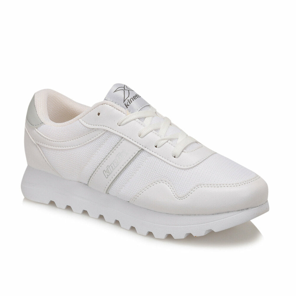 Women's Lace-up White Sneakers
