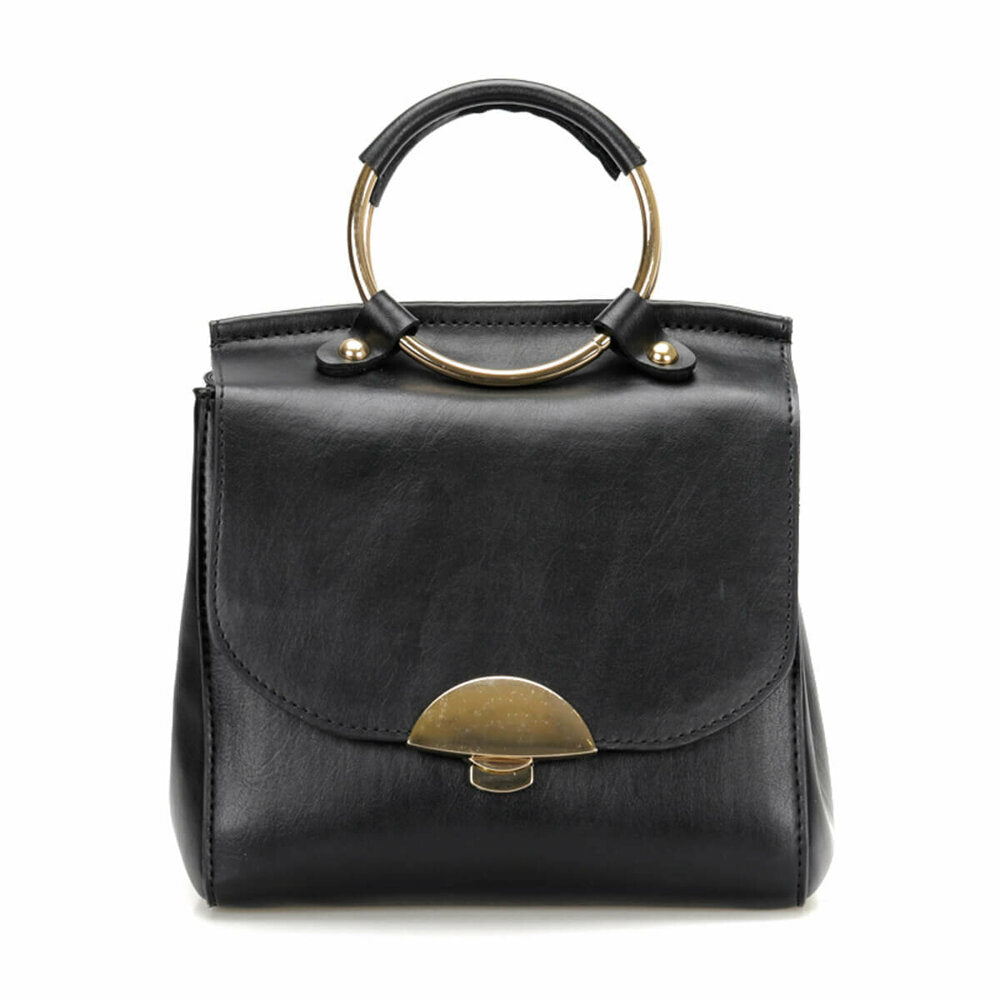 Women's Basic Black Handbag