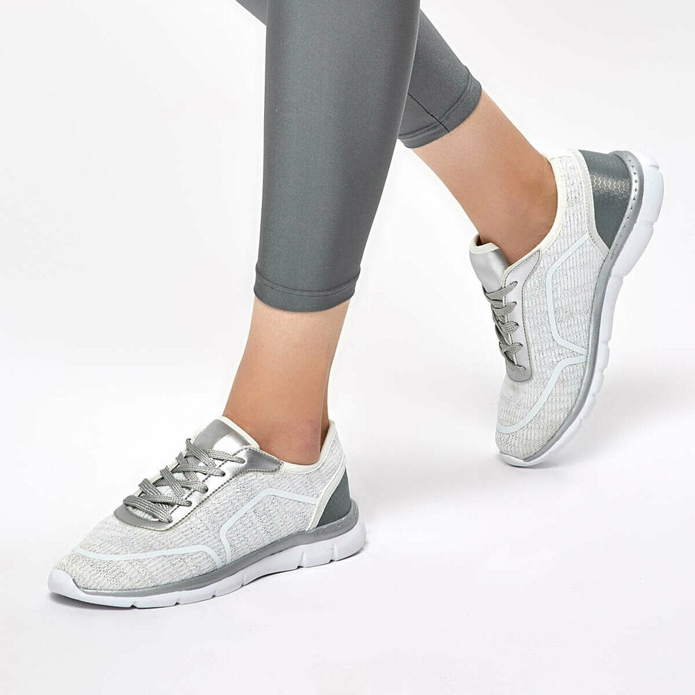 Women's White Grey Shoes