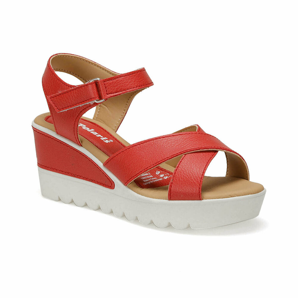 Women's Red Wedge Sandals