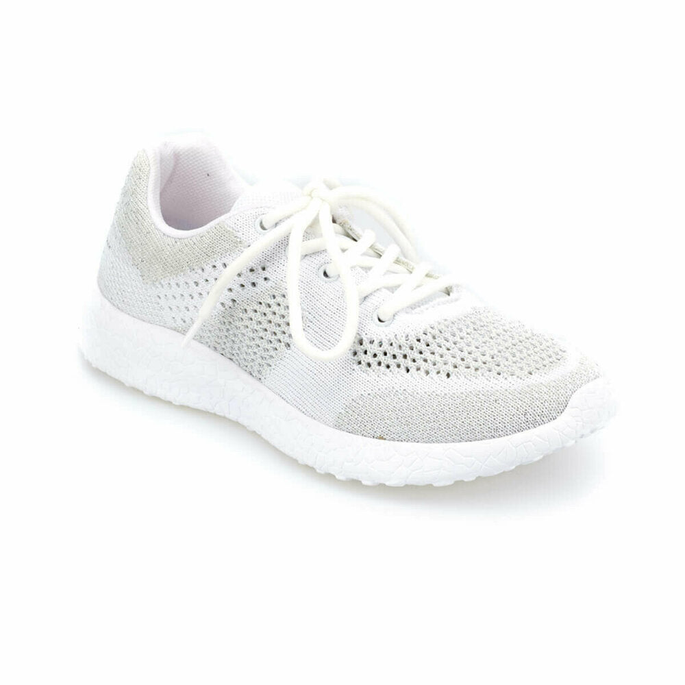 Women's Lace-up Light Grey Running Shoes