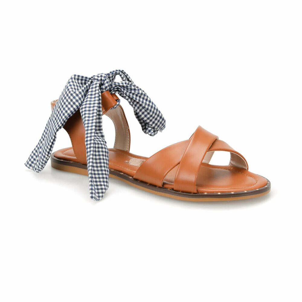 Women's Fabric Tie Ginger Sandals