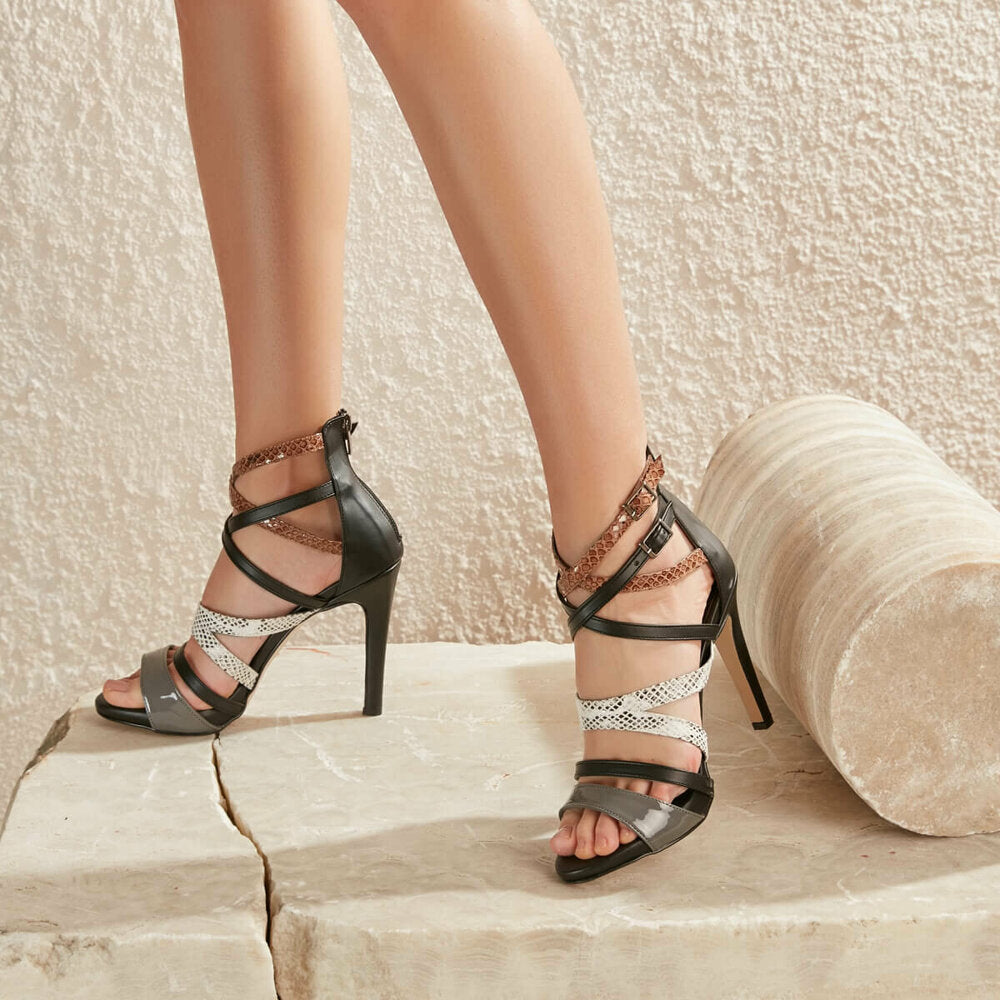 Women's Multicolor Leather Sandals