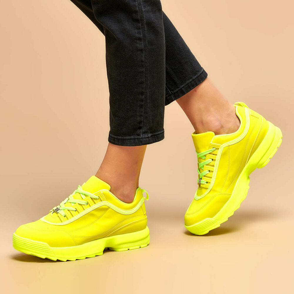 Women's Neon Yellow Sneakers