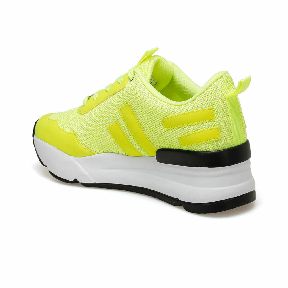 Women's Lace-up Yellow Sneakers