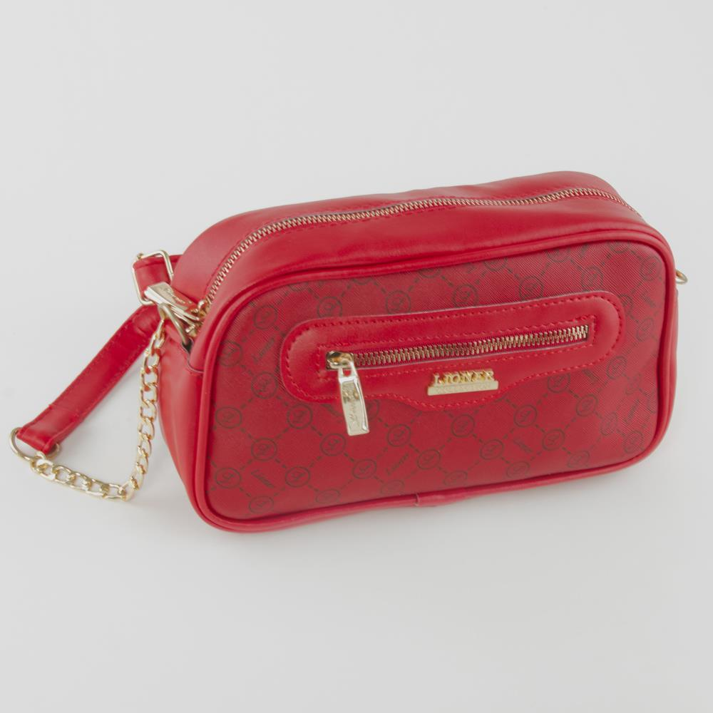Women's Strappy Patterned Red Bag