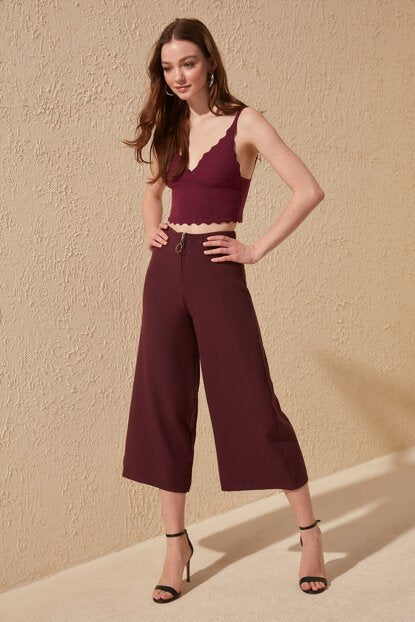 Women's Wide Legs Damson Pants