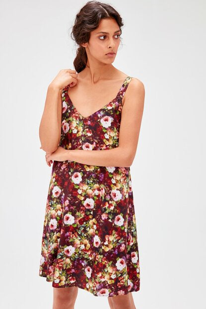 Women's Patterned Multi-color Dress