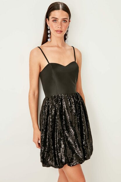 Women's Sequin Black Dress