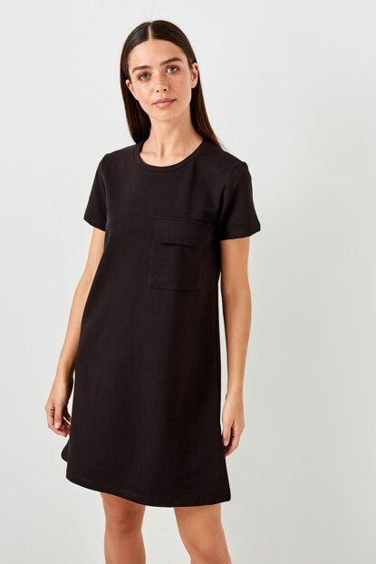Women's Pocket Black Dress