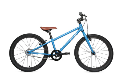 "Your early grade schooler will love the Owl. It accelerates and stops fast! 1 speed, internal brake cable routing and rigid fork make Owls lightweight, sleek, tough-as-nails machines. Kids start to bike-pack with the Owl. 20"" tires offer clearance for bigger stair drops, wider jumps and bigger adventures."
