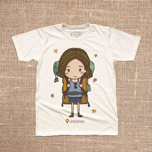 Backpacker Girl T-Shirt
