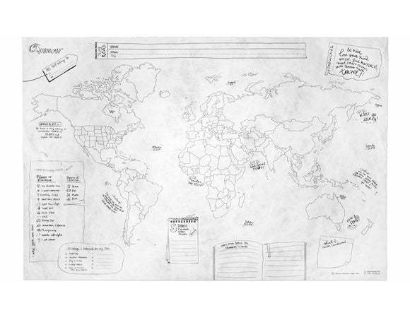 Mapa Collection Travel Journal Map - Espanglish Shop: Souvenir Shop and Travel Products