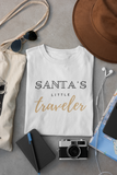 Santa's Little Traveler T-Shirt (Unisex - Negra)
