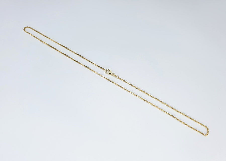 Ankerkette, diamantiert, Ø 1,5 mm - Gelbgold