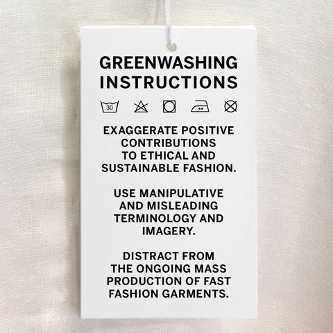 Greenwashing instructions picture from blonde gone rogue's article on greenwashing.