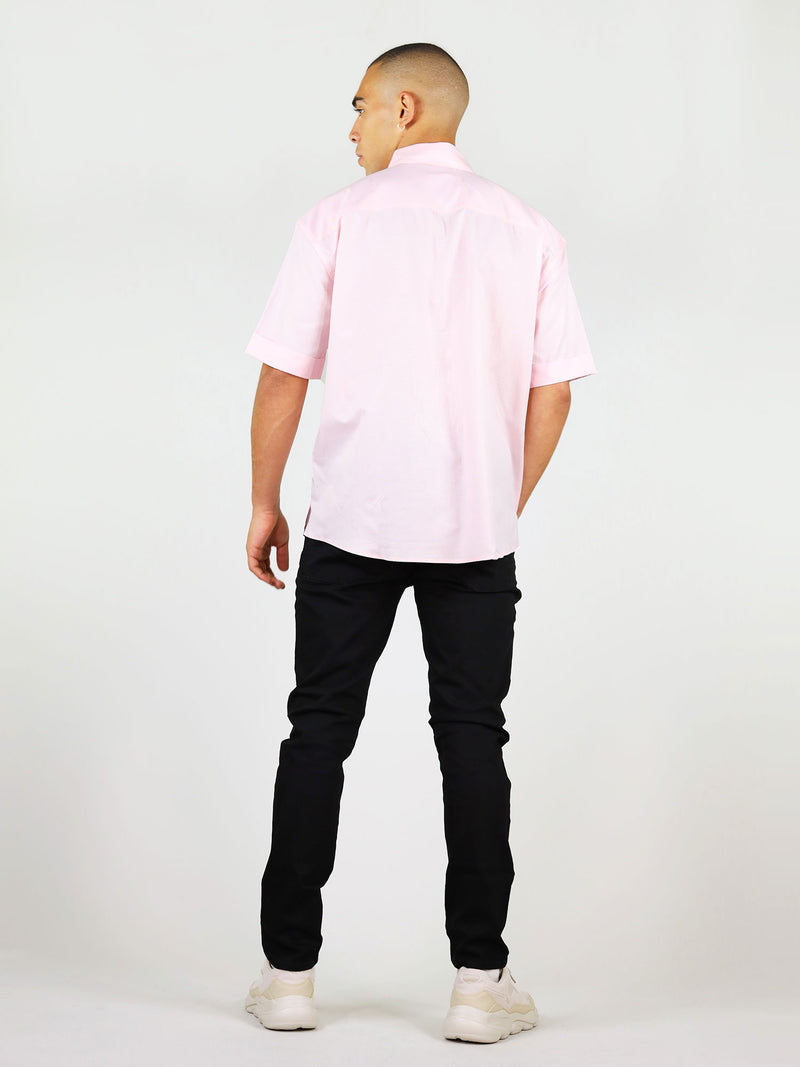 Back of short sleeve pink shirt for men by blonde gone rogue
