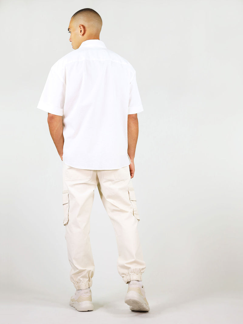 Back of summer shirt for men in white by blonde gone rogue