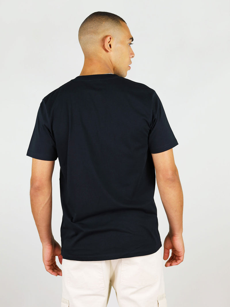 Back of GOTS-certified organic cotton menswear t-shirt