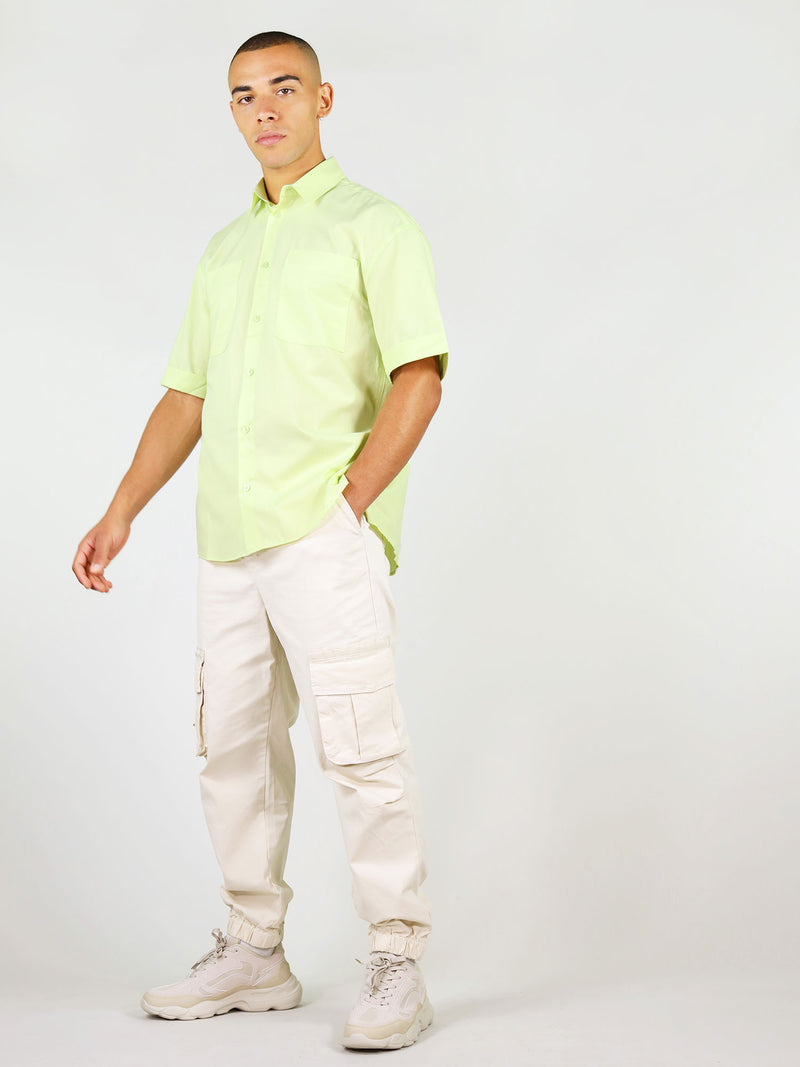 Sustainable summer shirt for men in light green by blonde gone rogue