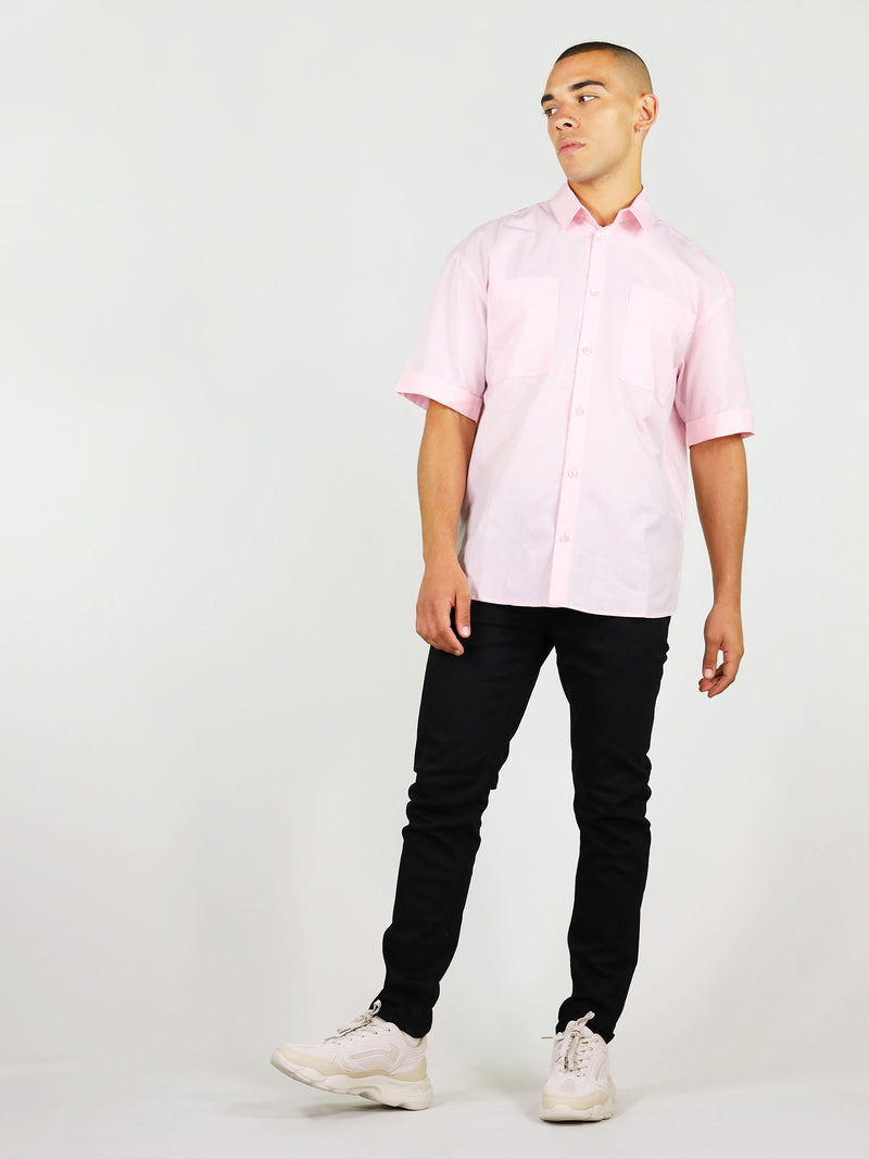 Pink summer shirt for men by blonde gone rogue