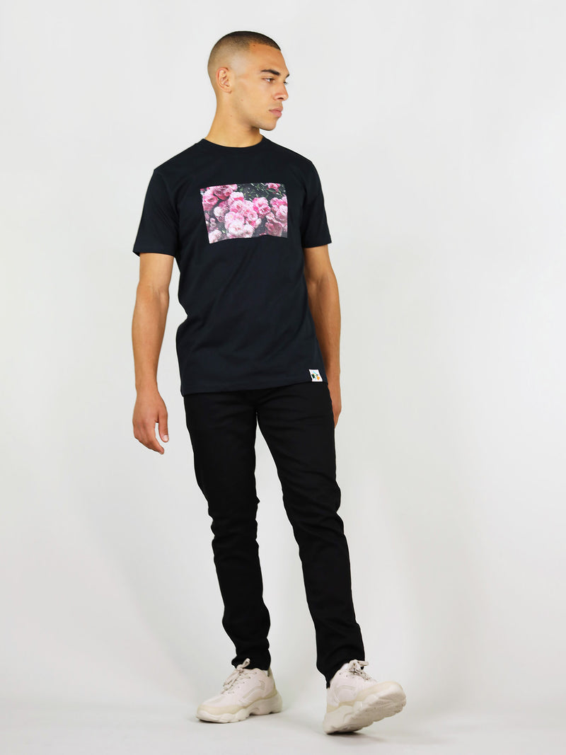 Rose garden organic cotton tee for men by blonde gone rogue
