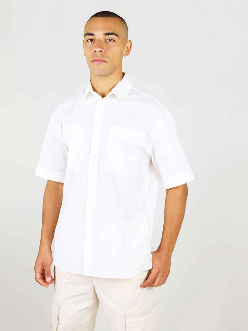 White linen shirt for men by blonde gone rogue