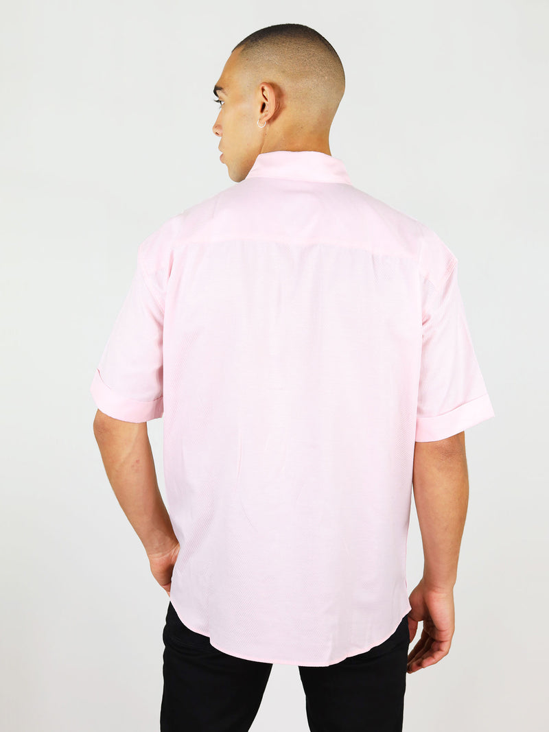 Menswear summer shirt in pink by blonde gone rogue