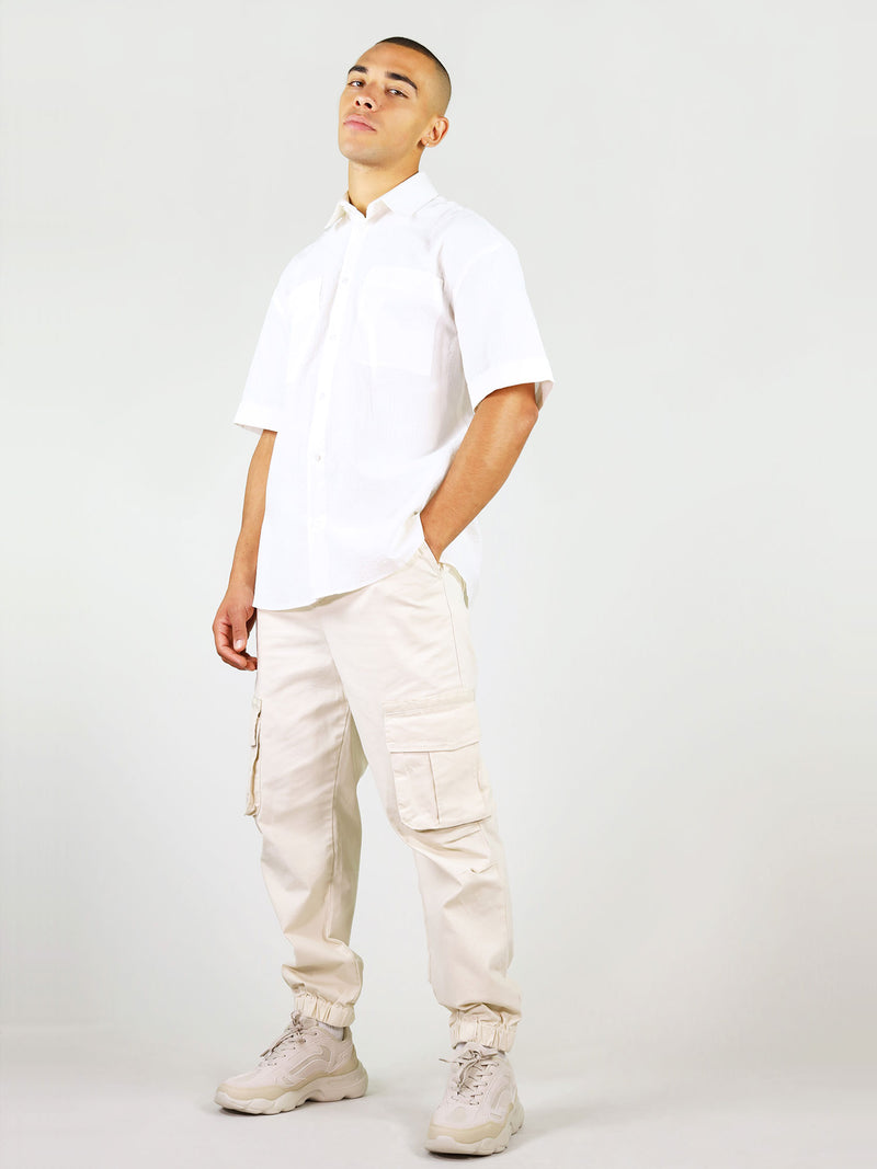 Summer linen shirt for men in white by blonde gone rogue