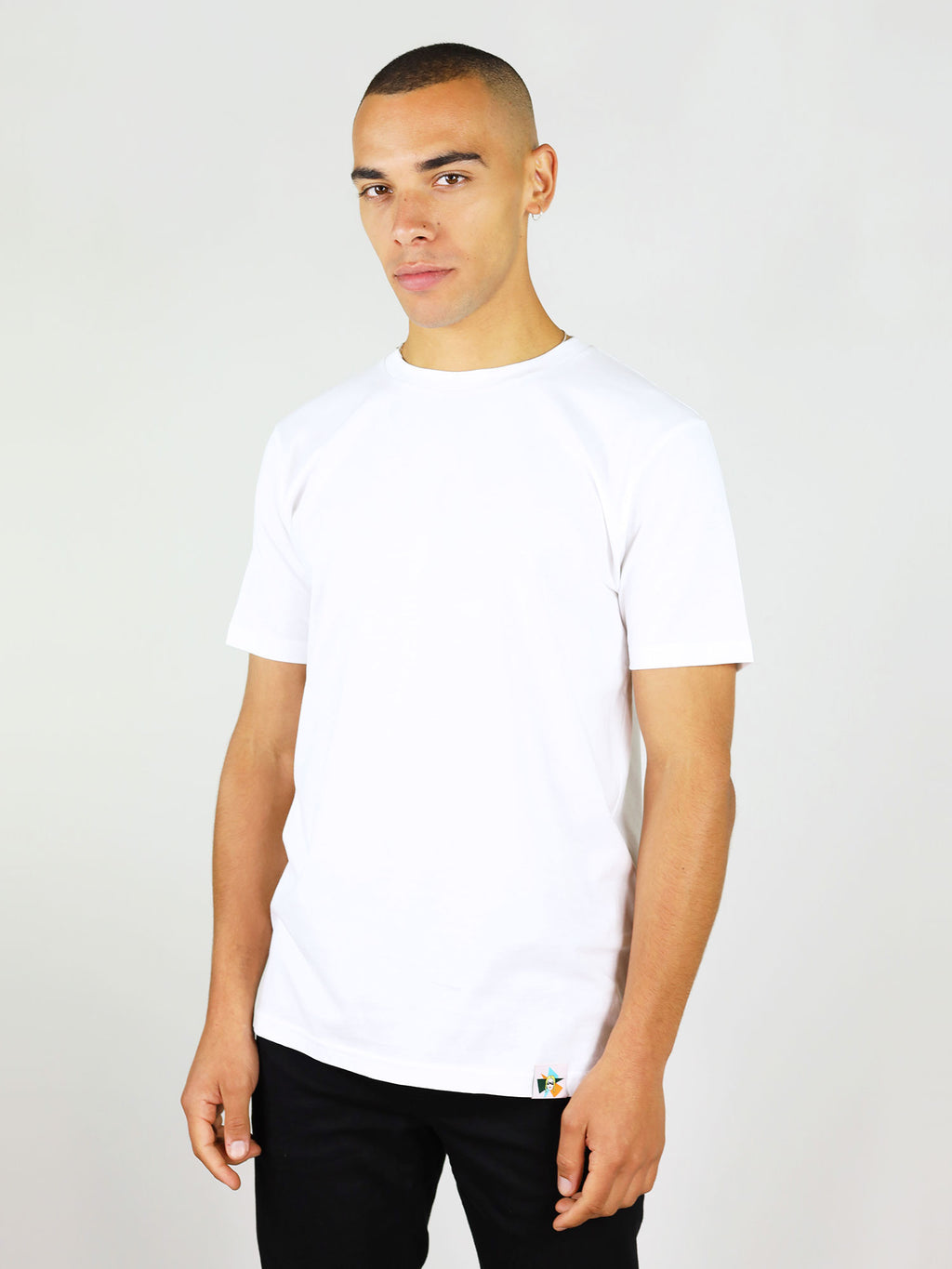 Gone rogue menswear organic cotton t-shirt in white by blonde gone rogue