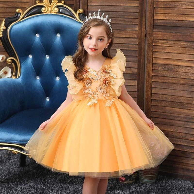 Robe Princesse Fille Reine du Printemps