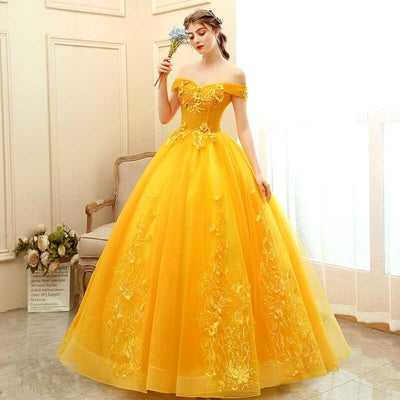 Robe-Princesse-Adulte-jaune